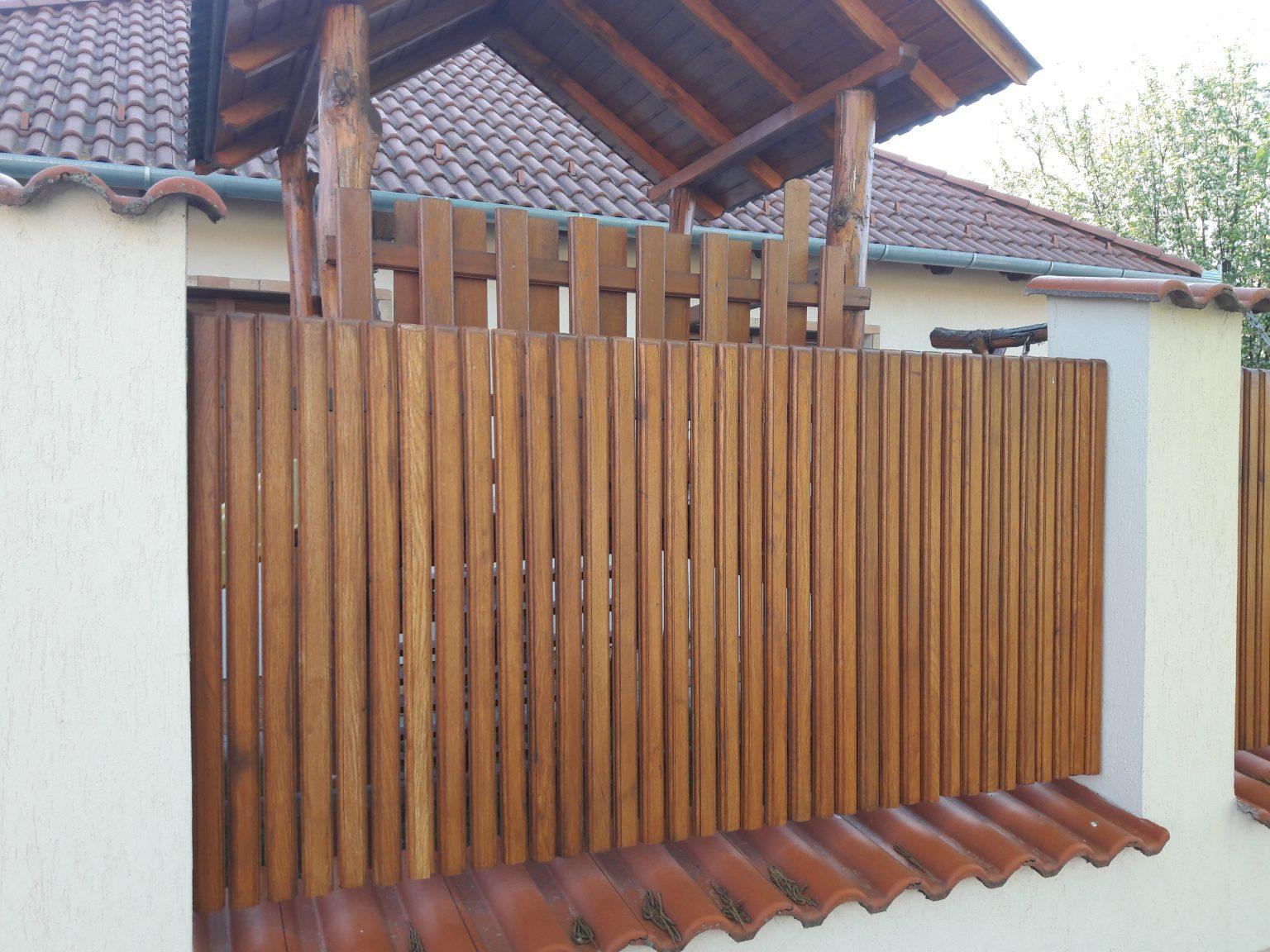 5,5 cm tölgy kerítésléc
